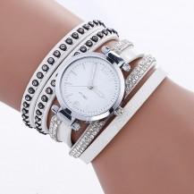Часы-браслет длинные, наматывающиеся на руку Белые 112-2