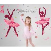 Интерьерная наклейка на стену Балерины 9903