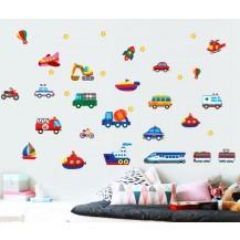 Интерьерная наклейка на стену Детская - Транспорт AY7212