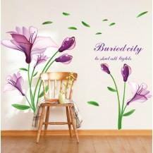 Интерьерная наклейка на стену Цветы LC6012