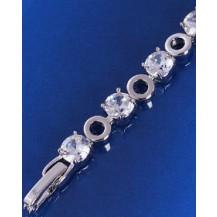 Браслет белая позолота с цирконами (GF323)