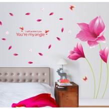 Интерьерная наклейка на стену Цветы AY9277