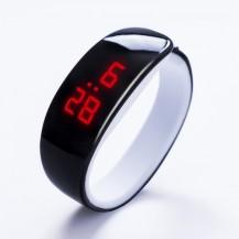 Часы в виде браслета LED Черные 091-1