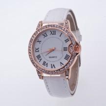 Часы женские Geneva Питон Стразы 100-1 белые