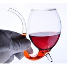 Бокал для вина и коктейлей с трубочкой