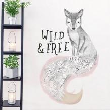 Интерьерная наклейка на стену Лиса Wild and Free XL8345