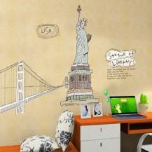 Интерьерная наклейка на стену Нью Йорк, Статуя Свободы AY807