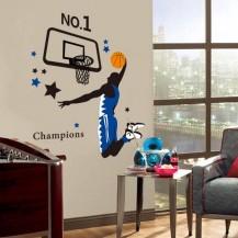 Интерьерная наклейка на стену Баскетбол AY1940