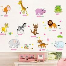 Интерьерная наклейка на стену Детская - Звери AM9215