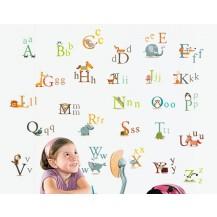 Интерьерная наклейка на стену Детская - Английский Алфавит AY877