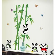 Интерьерная наклейка на стену Панды AY9215