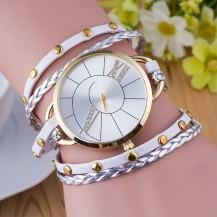 Часы-браслет длинные Белые 143-1