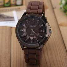 Часы женские Womage силиконовый ремешок Шоколад 068-3