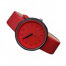 Часы наручные в японском стиле красные 073-4