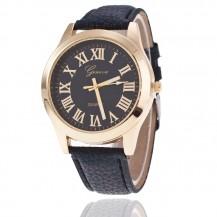 Женские часы Geneva Женева черные ремешок 124-2