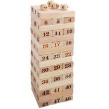 Настольная игра головоломка Башня Дженга 51 блок с кубиками