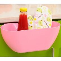 Ведро контейнер навесное на дверцу мебели для мелкого мусора (Розовое)