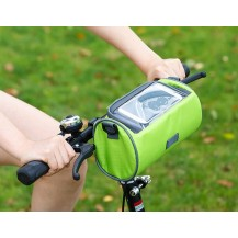 Сумка для путешествий, Велосумка на руль под смартфон (Зеленая)