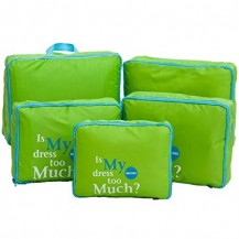 Дорожный набор сумок органайзеров, 5штук Зеленый