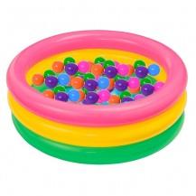 Детский надувной бассейн с шариками
