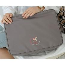 Дорожная сумка органайзер для путешествий с ручкой на чемодан Серая
