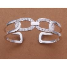 Браслет звенья Tiffany (TF-b183). Покрытие серебром 925