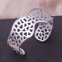 Браслет волна Tiffany (TF-b176). Покрытие серебром 925