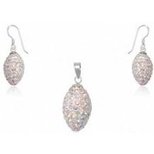 Набор TN602. Серебро 925. Swarovski crystals