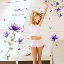 Интерьерная наклейка на стену Цветы SK9035