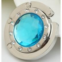 Крючок держатель для женской сумки Кристалл Голубой