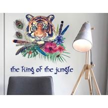 Интерьерная наклейка на стену Бохо Тигр SK7056