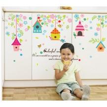 Детская Интерьерная наклейка на стену Скворечники SK7094