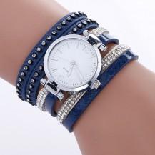 Часы-браслет длинные, наматывающиеся на руку Синие 112-3