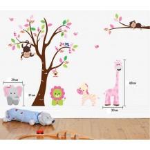 Интерьерная наклейка на стену Детская - Зверята AY216