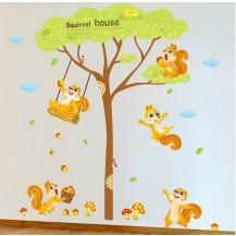 Интерьерная наклейка на стену Детская - Белочки XL9009A