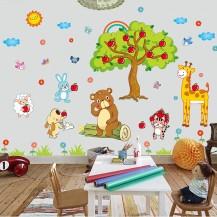 Интерьерная наклейка на стену Детская - Звери XL8205