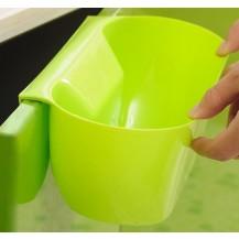 Ведро контейнер навесное на дверцу мебели для мелкого мусора (Салатовое)