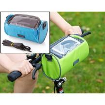 Сумка для путешествий, Велосумка на руль под смартфон (Голубая)