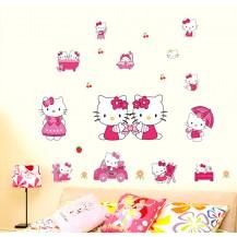 Интерьерная наклейка на стену Hello Kitty (DM57-0167)