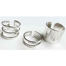 Комплект Серебристых колец tb1016