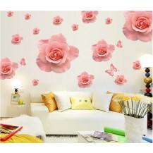 Интерьерная наклейка на стену Розы (AY889)