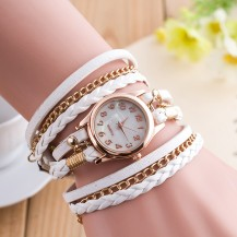 Часы-браслет длинные, наматывающиеся на руку Белые 146-3