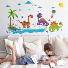 Детская интерьерная наклейка на стену Динозавры SK9125