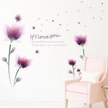 Интерьерная наклейка на стену Цветы SK9027