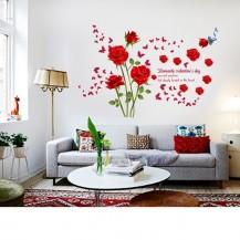 Интерьерная наклейка на стену Розы SK9195A