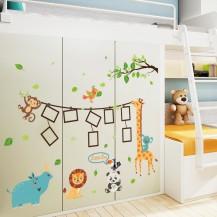 Детская интерьерная наклейка на стену с рамочками для фото SK9206