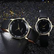 Часы Geneva черные с золотым (большие) 1шт 120-1
