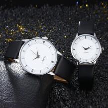 Часы Geneva белые с золотым (большие) 1шт 121-1