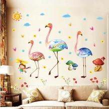 Интерьерная наклейка на стену Фламинго XL8219
