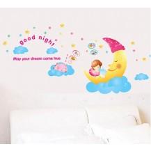 Интерьерная наклейка на стену Детская - Сладкие сны AY1907